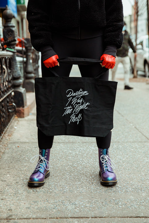 Darling, I Was the Night Itself Large Eco Tote | The Invisible Life of Addie LaRue
