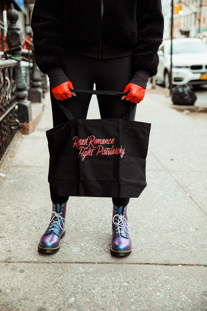 Read Romance, Fight Patriarchy Large Eco Tote Bag | Sarah MacLean