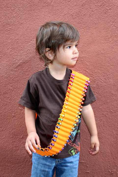 Kids Crayon Bandolier | Orange