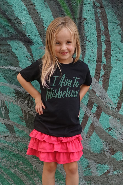 I Aim to Misbehave Kids T-Shirt
