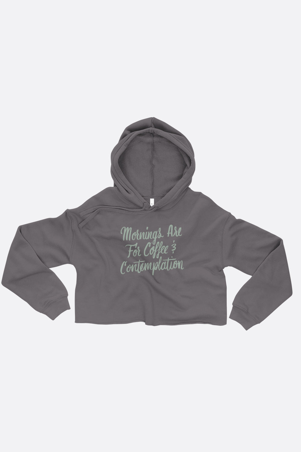 Coffee and Contemplation Crop Hoodie