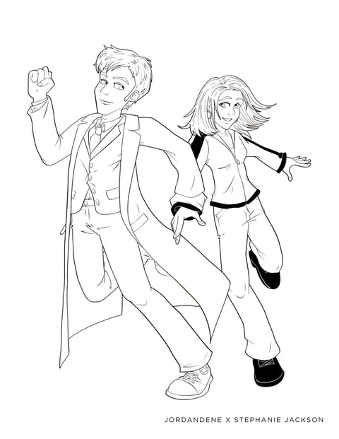 Doctor Who Free Coloring Page