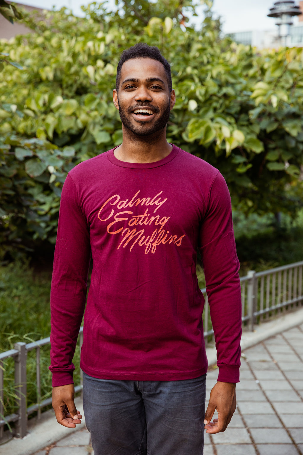 Calmly Eating Muffins Unisex Long Sleeve Tee | The Importance of Being Earnest