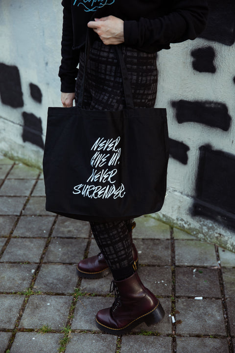 Never Surrender Large Eco Tote