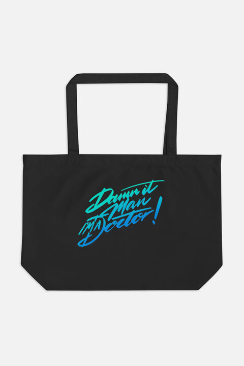 Damn It, Man! Large Eco Tote Bag