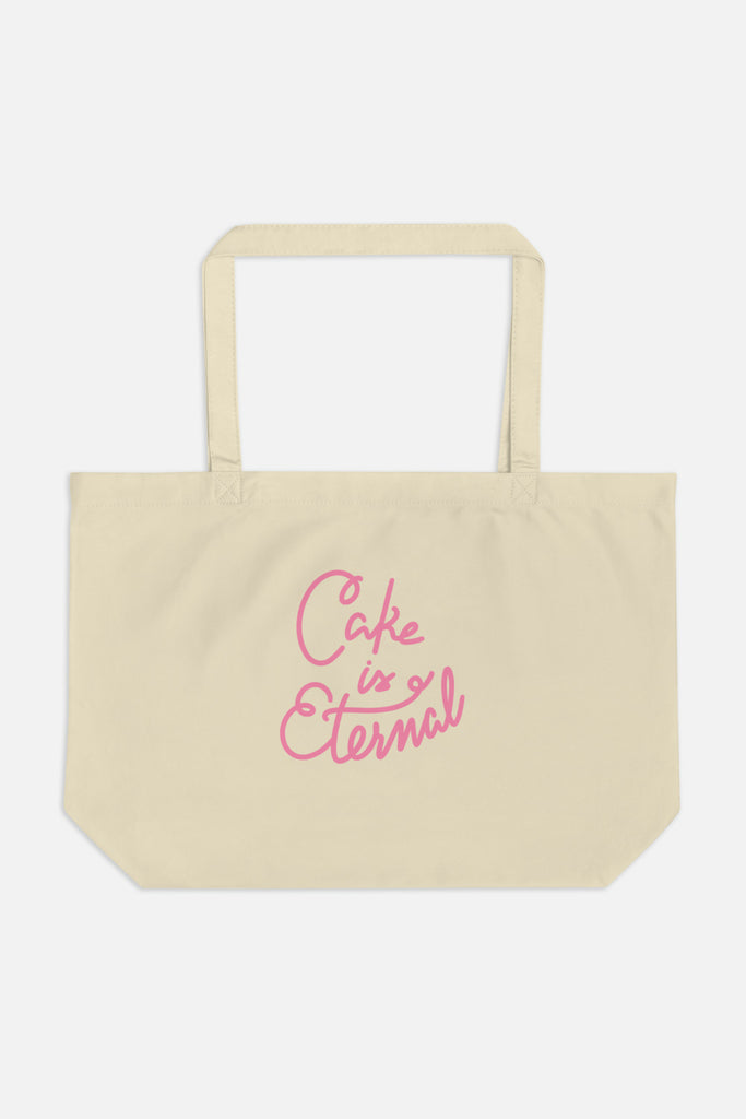 Cake is Eternal Large Eco Tote