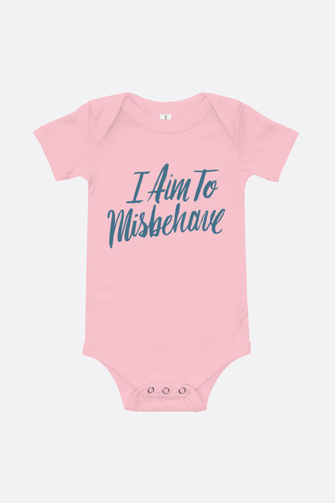 Aim to Misbehave Baby Onesie