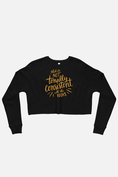 Tonally Consistent Fitted Crop Sweatshirt