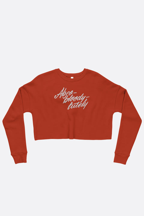 Abso-bloody-lutely Crop Sweatshirt | Mackenzi Lee