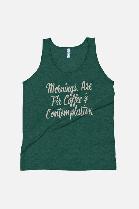 Coffee and Contemplation Unisex Tank Top