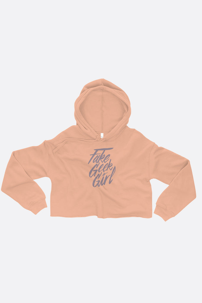 Fake Geek Girl Crop Hoodie