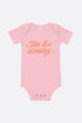 She Be Worthy Baby Onesie