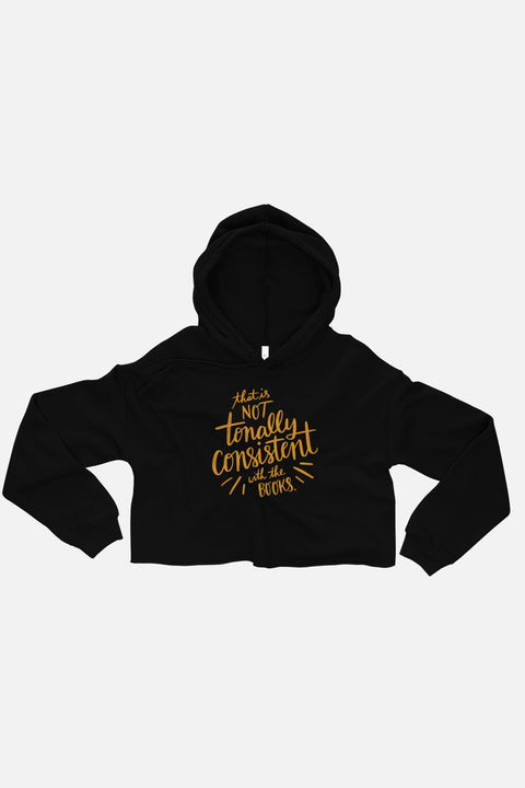 Tonally Consistent Fitted Crop Hoodie