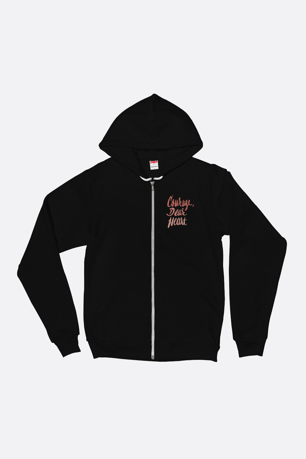 Courage Dear Heart Zipper Hoodie