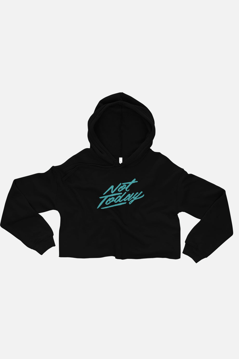 Not Today Fitted Crop Hoodie