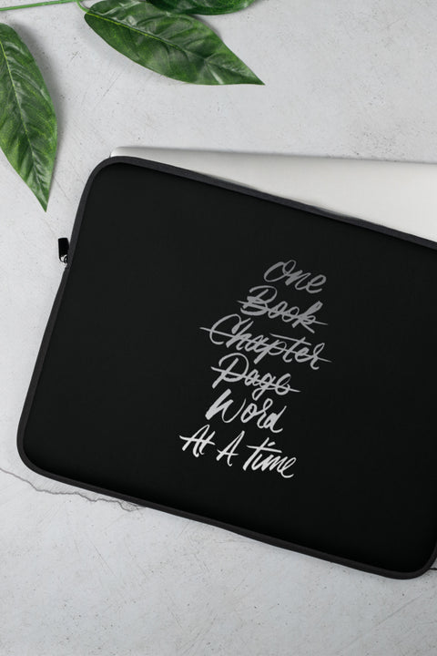 One Word Laptop Sleeve | V.E. Schwab - 13 or 15 inch