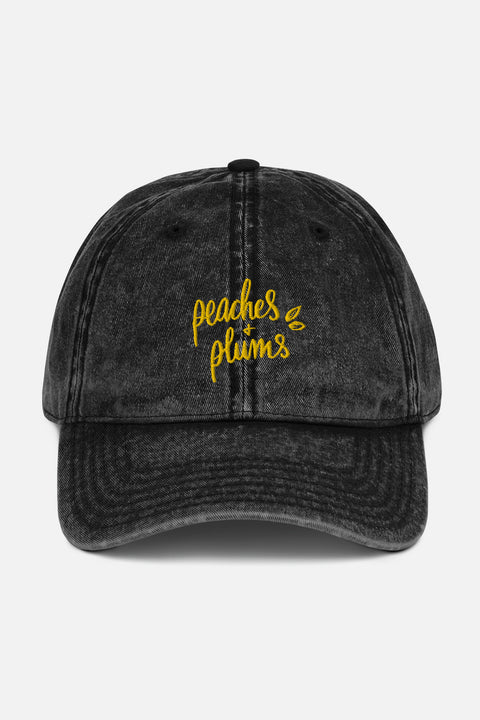 Peaches + Plums Vintage Cap