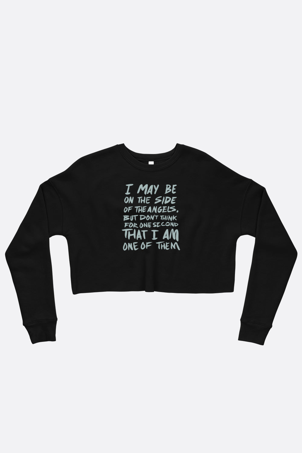 Sherlocked Crop Sweatshirt