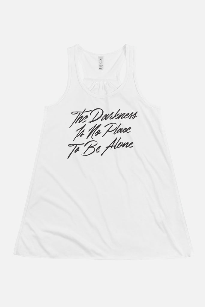 The Darkness is No Place to Be Alone Fitted Racerback Tank | The Invisible Life of Addie LaRue
