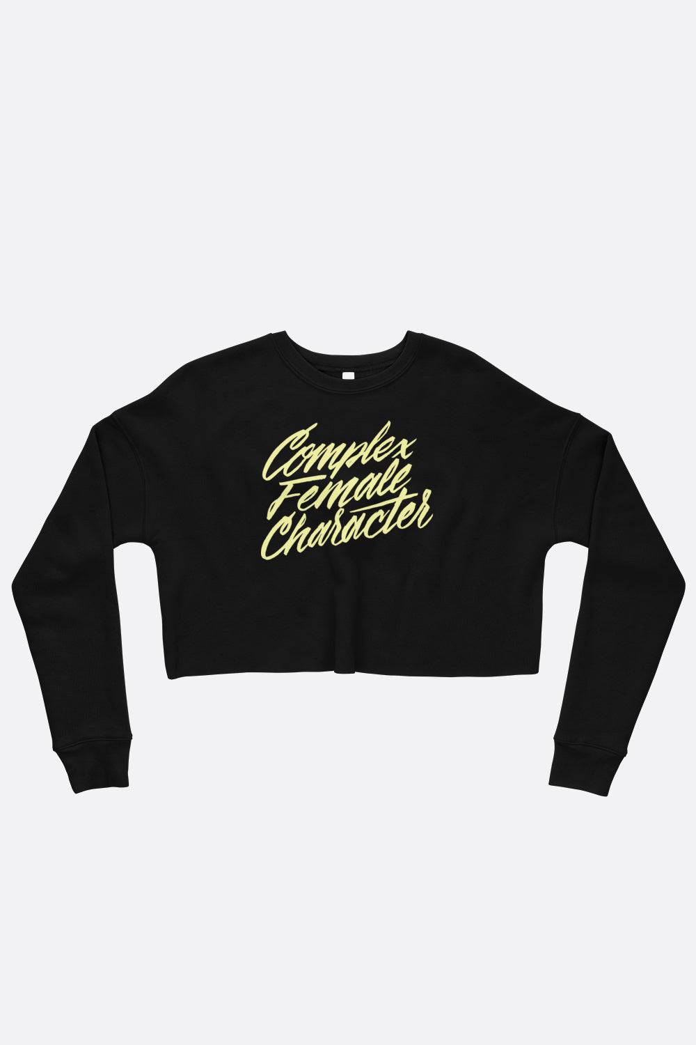 Complex Female Character Crop Sweatshirt