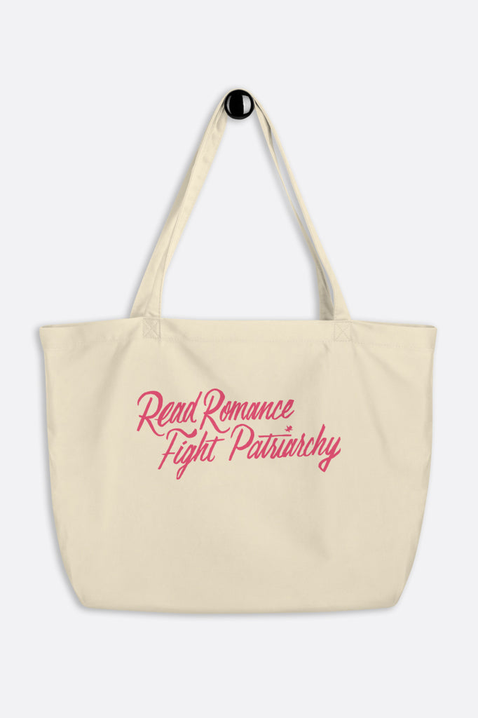 Read Romance, Fight Patriarchy Large Eco Tote Bag