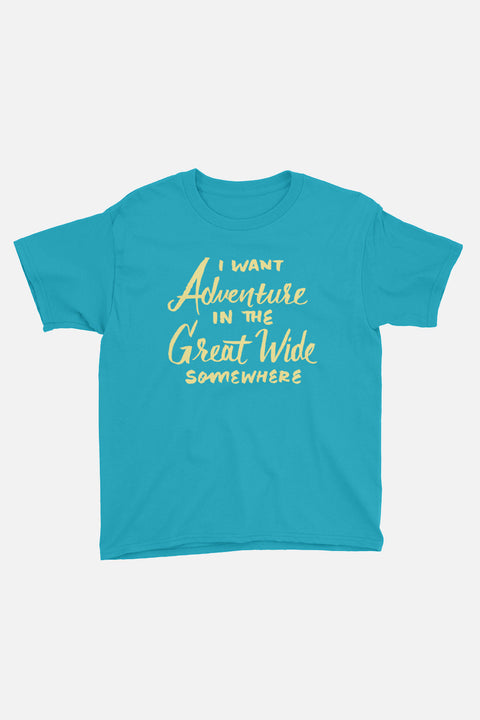 I Want Adventure Kids T-Shirt