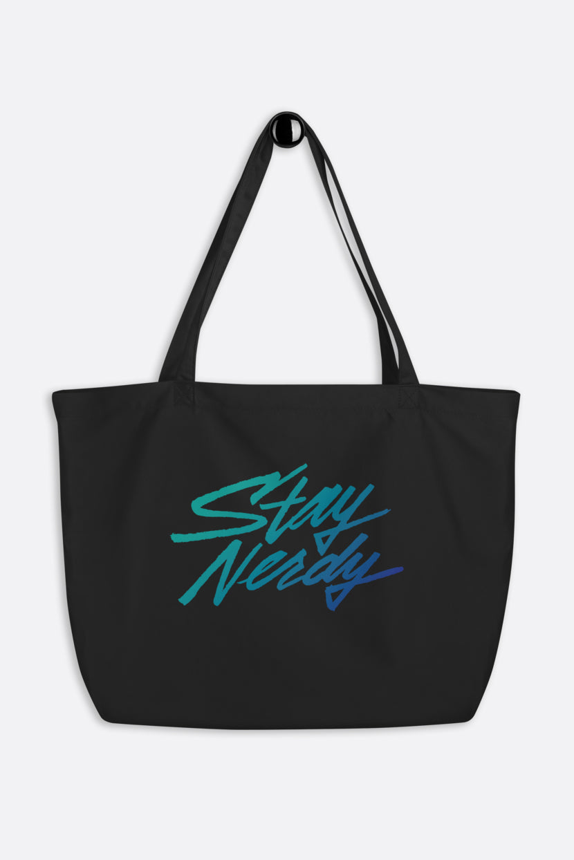 Stay Nerdy Large Eco Tote Bag