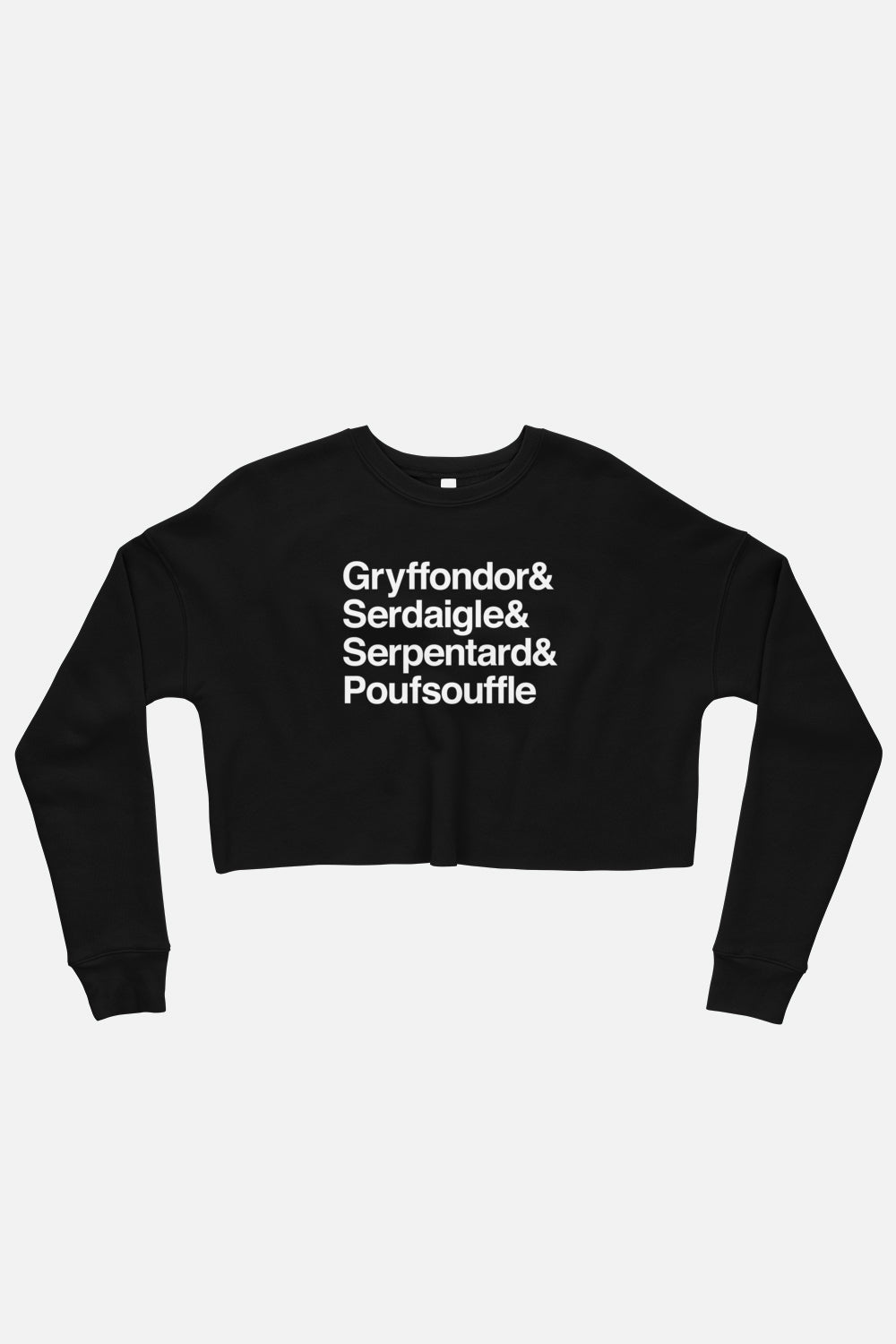 French School Fitted Crop Sweatshirt