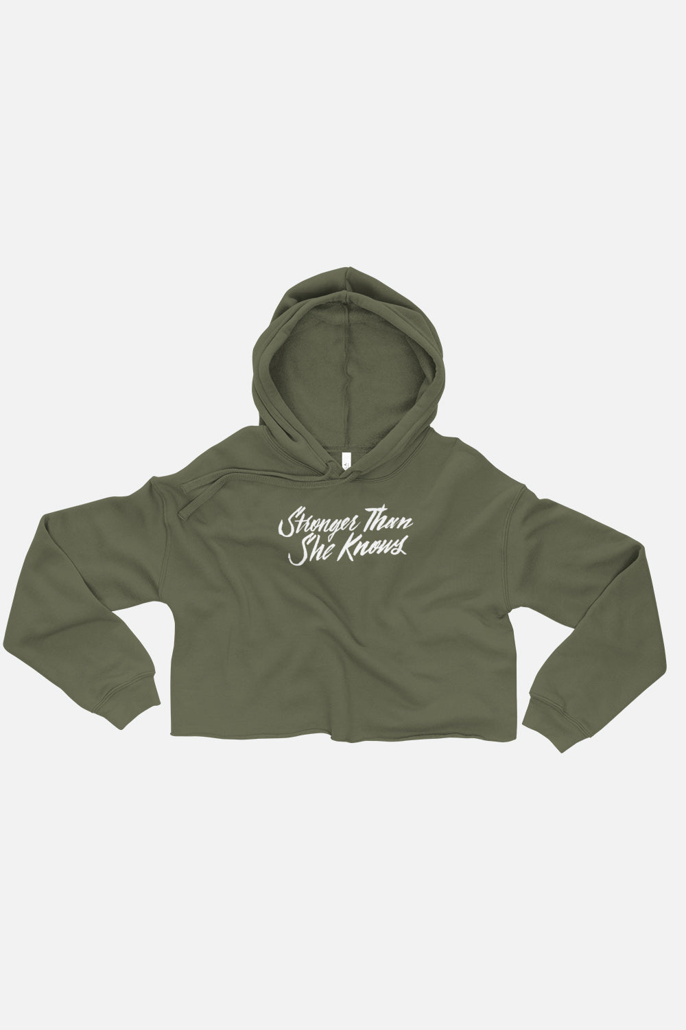 Stronger Than She Knows Crop Hoodie