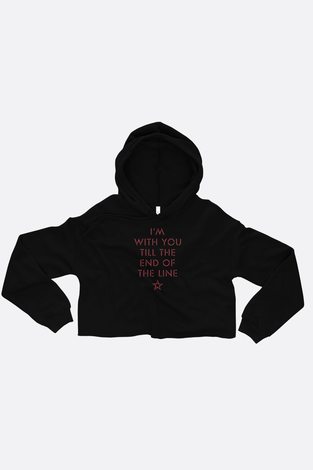 End of the Line Crop Hoodie