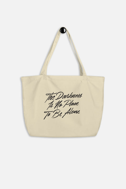 The Darkness is No Place to Be Alone Large Eco Tote | The Invisible Life of Addie LaRue