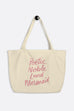 Poetic, Noble Land Mermaid Large Eco Tote Bag