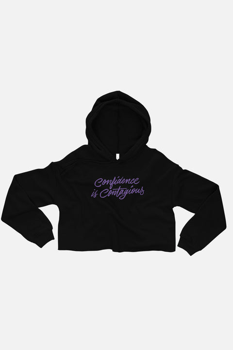 Confidence is Contagious Fitted Crop Hoodie