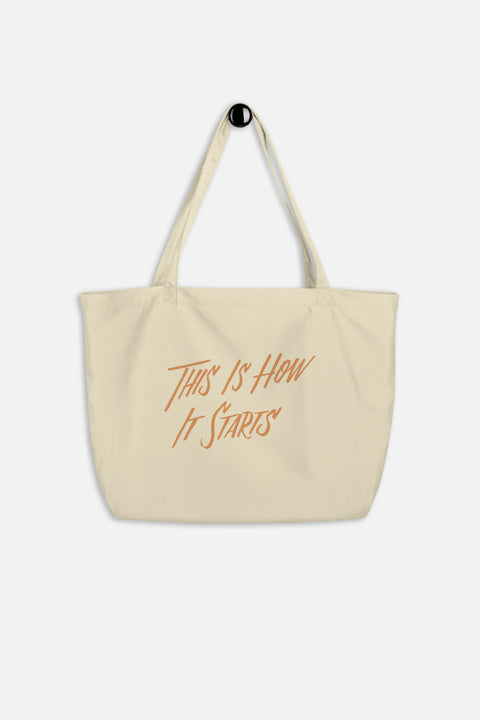 This is How It Starts Large Eco Tote | The Invisible Life of Addie LaRue