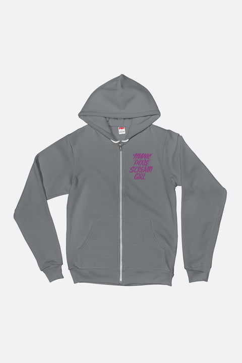 Manic Pixie Scream Girl Zip Up Hoodie