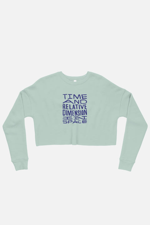 Timey Wimey Fitted Crop Sweatshirt | Patreon Exclusive