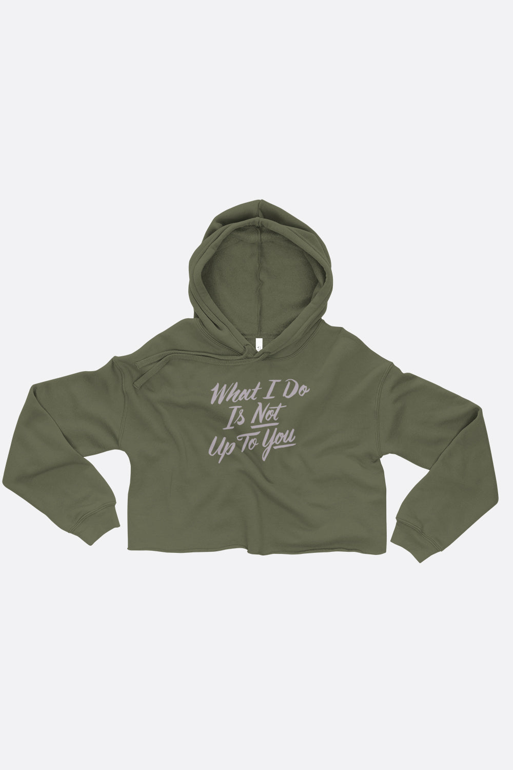 What I Do Crop Hoodie