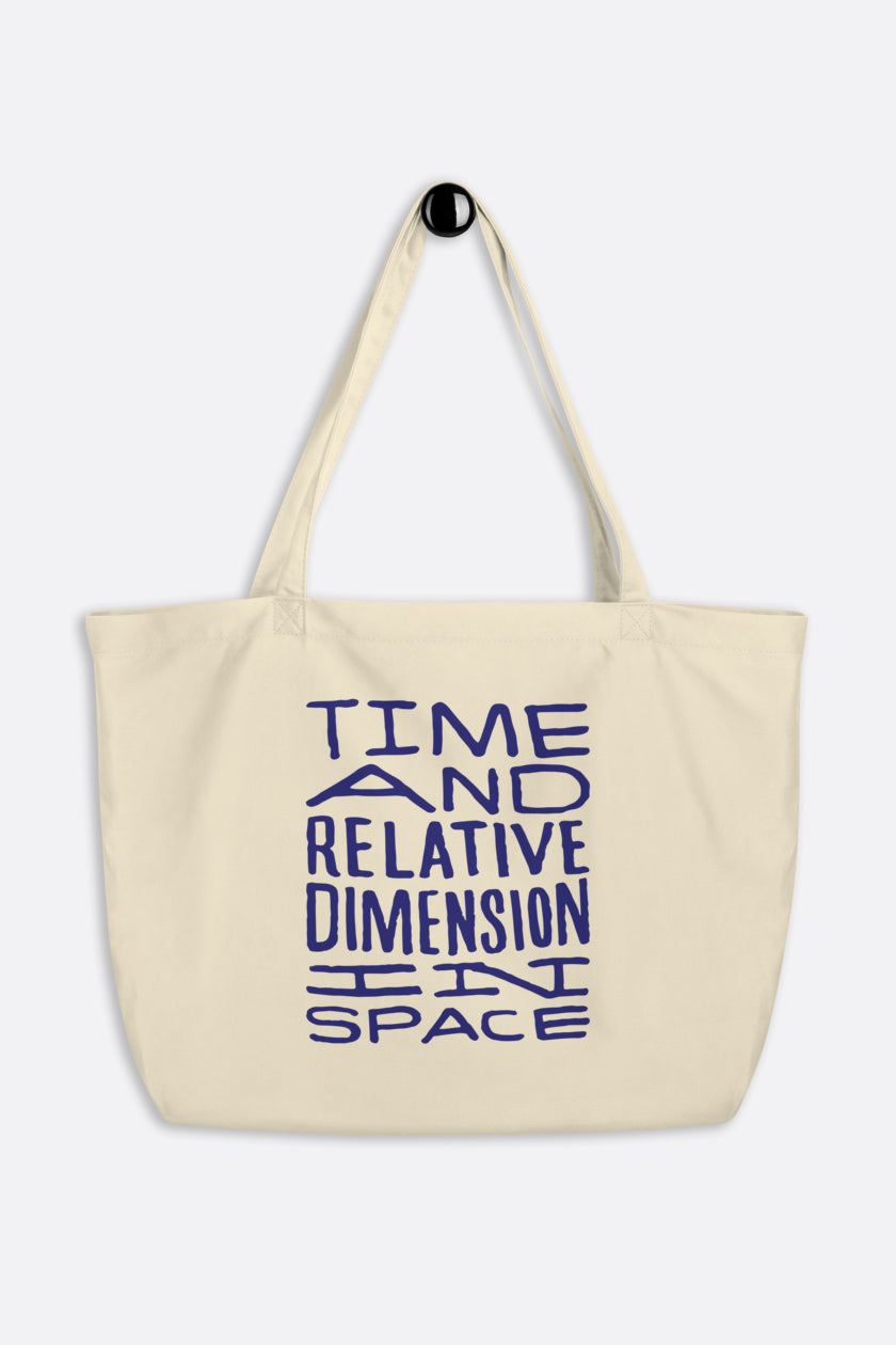 Timey Wimey Large Eco Tote Bag