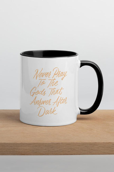Never Pray to the Gods that Answer After Dark Colorful Mug  | The Invisible Life of Addie LaRue