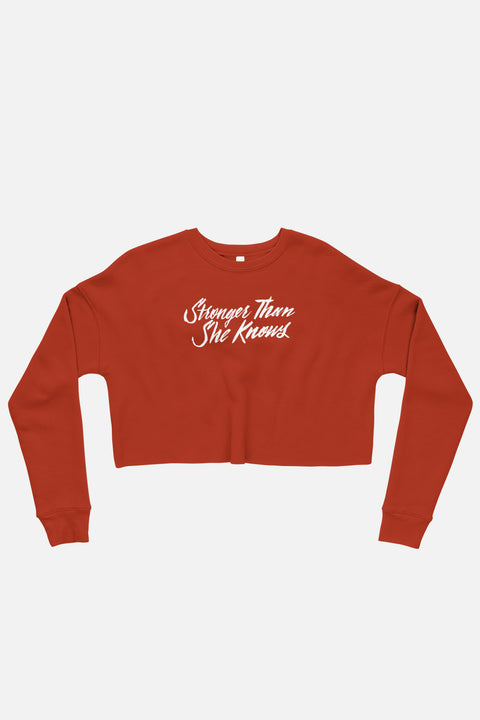 Stronger Than She Knows Fitted Crop Sweatshirt