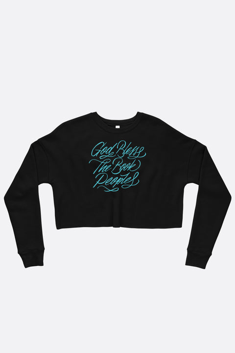 God Bless the Book People Crop Sweatshirt | Mackenzi Lee