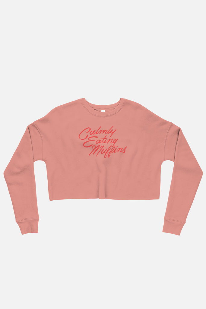 Calmly Eating Muffins Fitted Crop Sweatshirt | The Importance of Being Earnest