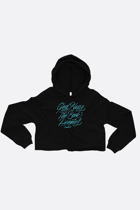 God Bless the Book People Crop Hoodie | Mackenzi Lee