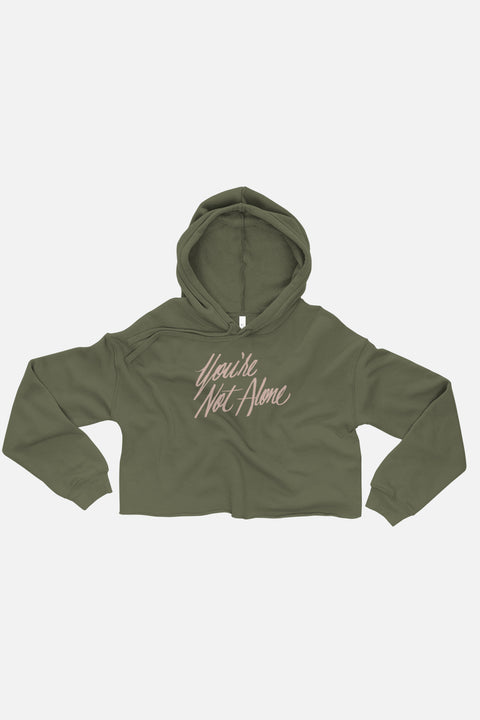 You're Not Alone Fitted Crop Hoodie