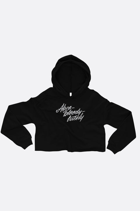 Abso-bloody-lutely Crop Hoodie | Mackenzi Lee