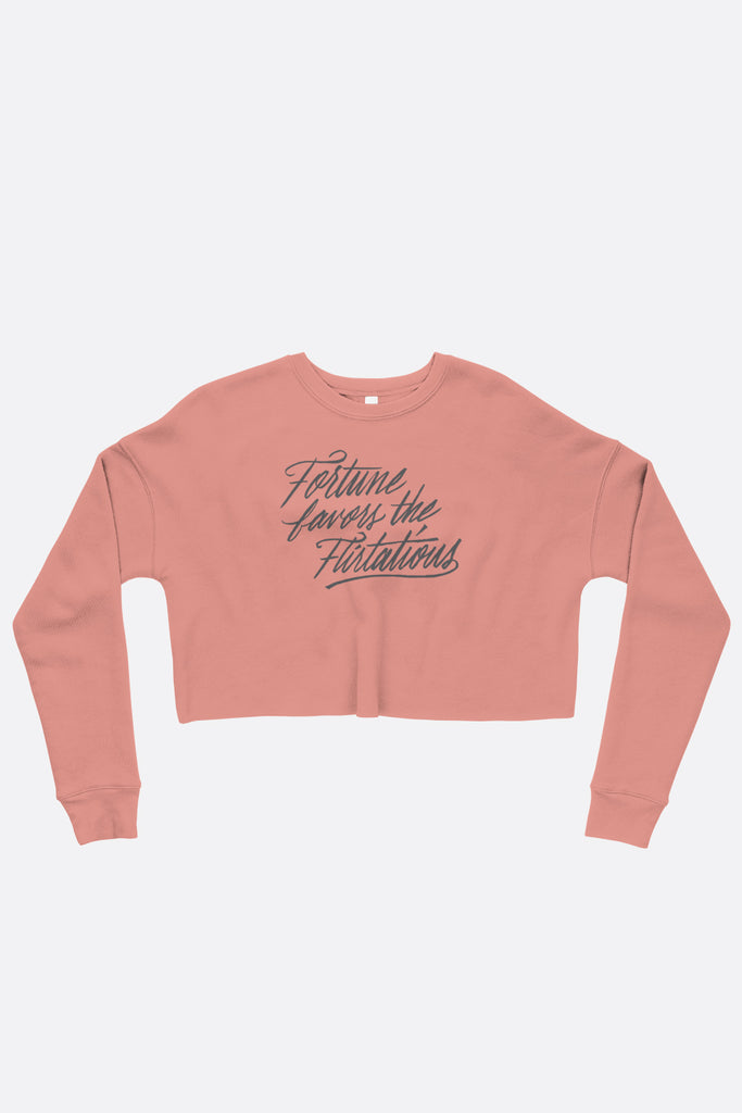 Fortune Favors the Flirtatious Crop Sweatshirt | Mackenzi Lee