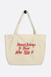 Power Belongs Large Eco Tote Bag | V.E. Schwab Official Collection
