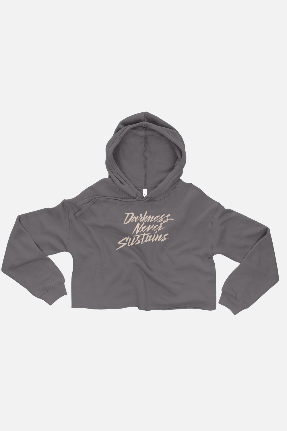 Darkness Never Sustains Fitted Crop Hoodie