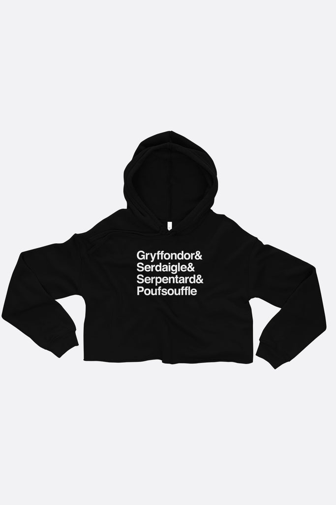 French School Fitted Crop Hoodie