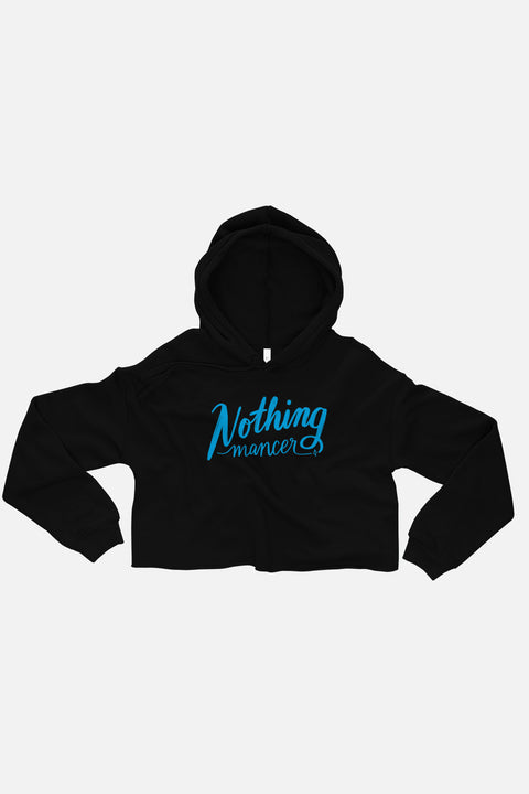 Nothing-mancer Fitted Crop Hoodie